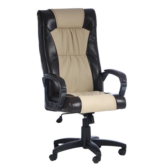 """Кресло руководителя """"Оксфорд"""", экокожа, коричневое МК-055"""
