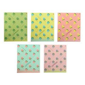 Тетрадь 48 листов в клетку «Арбузики», обложка мелованный картон, УФ-лак, МИКС