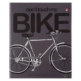 Тетрадь на кольцах, 160 листов в клетку Bike, твёрдая обложка, глянцевая ламинация, со сменным блоком