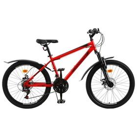 """Велосипед 24"""" Progress модель Stoner Disc RUS, цвет красный, размер 15"""""""