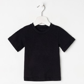 Футболка детская, цвет чёрный, рост 110 см