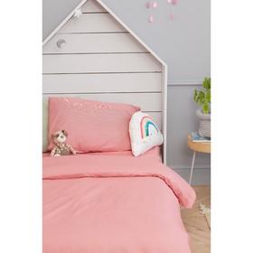 Детское постельное бельё Этель «Полосы» 1.5 сп, цвет красный, 143х215 см, 150х214 см, 50х70 см