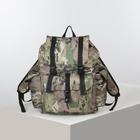 Рюкзак туристический, 35 л, отдел на шнурке, наружный карман, цвет камуфляж