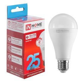 Лампа светодиодная IN HOME LED-A65-VC, Е27, 25 Вт, 230 В, 4000 К, 2250 Лм