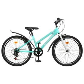 """Велосипед 24"""" Progress Ingrid low, цвет голубой/белый, размер 13"""""""