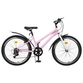 """Велосипед 24"""" Progress Ingrid low, цвет розовый/белый, размер 13"""""""