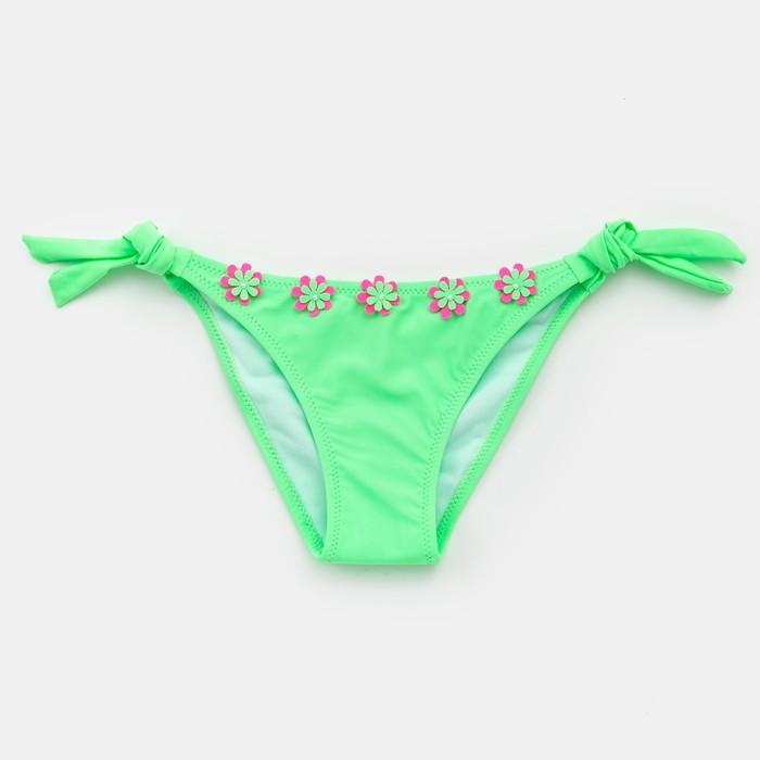 """Трусы купальные для девочек с декором MINAKU """"Sunny Life"""", рост 68-74 см, цвет зеленый - фото 76127715"""