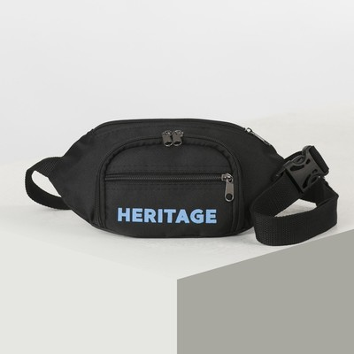 "Bag on the belt ""Heritage"", 28*7*14, otd zipper, no pocket, black"