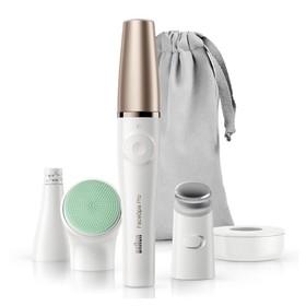 Прибор для очищения лица Braun FaceSpa Pro 913, 1 скорость, 10 пинцетов, 3 насадки, белый