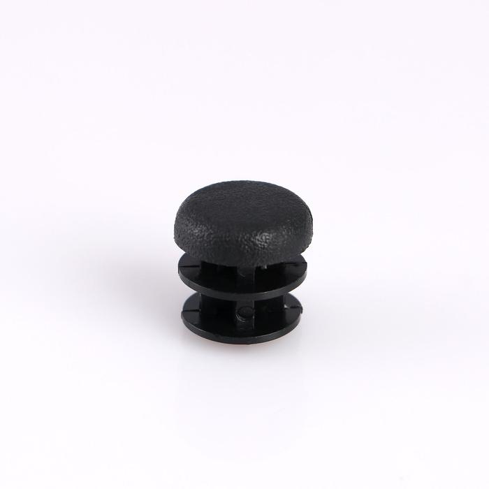 Заглушка внутренняя универсальная, d=16 мм, черная