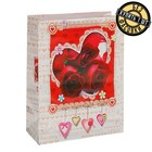 "Пакет подарочный ""Три розы"", 11,5 х 5 х 14,5 см"