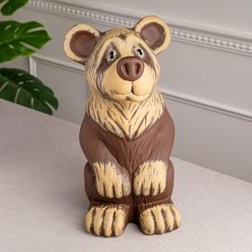 """Копилка """"Медведь"""", акрил, коричневый цвет, 38 см"""