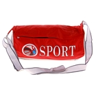 Сумка спортивная S 1 отдел, длинный ремень, красный