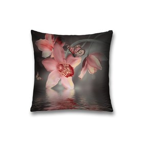 Наволочка декоративная «Цветок нарцисс и бабочка», размер 45 х 45 см, вшитая молния