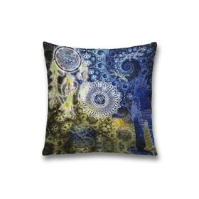 Наволочка декоративная «Мандала», размер 45 х 45 см, вшитая молния