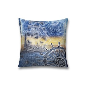 Наволочка декоративная «Якорь», размер 45 х 45 см, вшитая молния