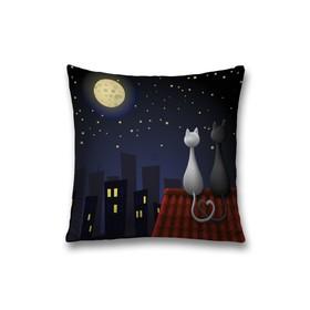 Наволочка декоративная «Ночное свидание», размер 45 х 45 см, вшитая молния