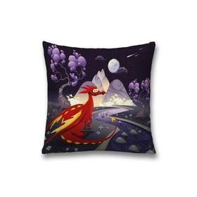 Наволочка декоративная «Красный дракон», размер 45 х 45 см, вшитая молния