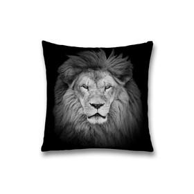 Наволочка декоративная «Лев», размер 45 х 45 см, вшитая молния