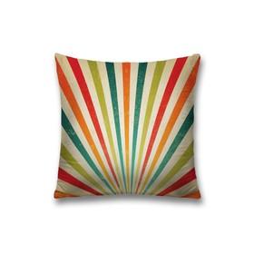 Наволочка декоративная «Разноцветные полосы», размер 45 х 45 см, вшитая молния