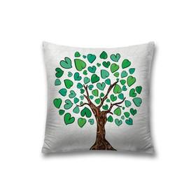 Наволочка декоративная «Дерево любви», размер 45 х 45 см, вшитая молния