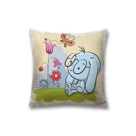 Наволочка декоративная «Мечтательный зайка», размер 45 х 45 см, вшитая молния