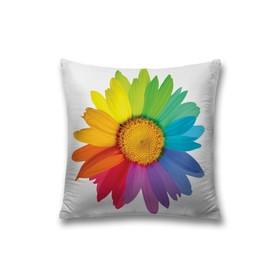 Наволочка декоративная «Радужная ромашка», размер 45 х 45 см, вшитая молния