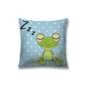 Наволочка декоративная «Сонная лягушка», размер 45 х 45 см, вшитая молния