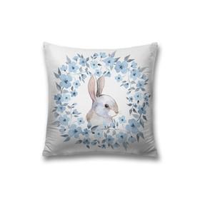 Наволочка декоративная «Кролик», размер 45 х 45 см, вшитая молния