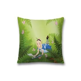 Наволочка декоративная «Алиса читает», размер 45 х 45 см, вшитая молния