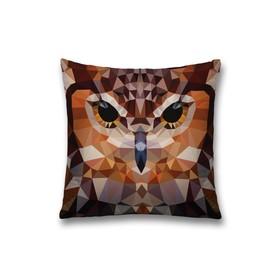 Наволочка декоративная «Сова», размер 45 х 45 см, вшитая молния