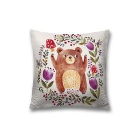 Наволочка декоративная «Милый медвежонок», размер 45 х 45 см, вшитая молния