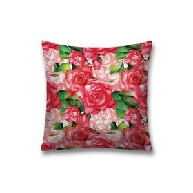 Наволочка декоративная «Букет», размер 45 х 45 см, вшитая молния