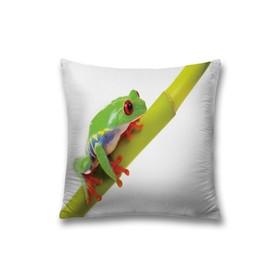 Наволочка декоративная «Лягушка на ветке», размер 45 х 45 см, вшитая молния