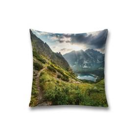 Наволочка декоративная «Озеро в горах», размер 45 х 45 см, вшитая молния
