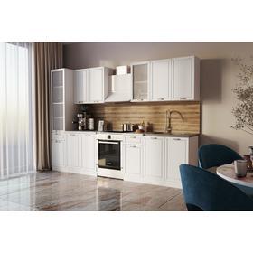 Кухонный гарнитур Севилья 2400, Белый матовый