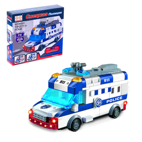 "Designer block ""police van"", the light. sound, drives, 48 items"