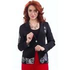 Пиджак женский, размер 48, цвет чёрный