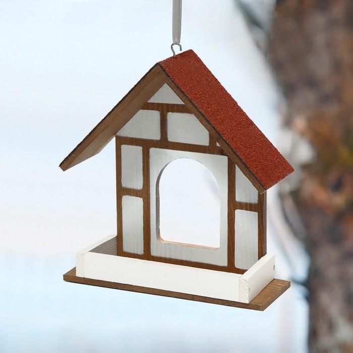 Kopмушка для птиц, 40 × 16 × 17 см, «Уличная веранда»