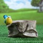 """Фигурное кашпо """"Пакет с птичкой широкий"""" 17,5х14см - фото 840726"""