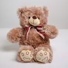 Мягкая игрушка «Медведь с клетчатым бантом», 30 см, цвета МИКС - фото 4471025
