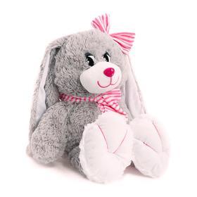 Мягкая игрушка «Зайка с полосатым шарфиком и бантом», 50 см, цвета МИКС
