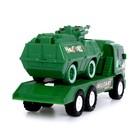 Грузовик инерционный «Военный», с танком - фото 1023449