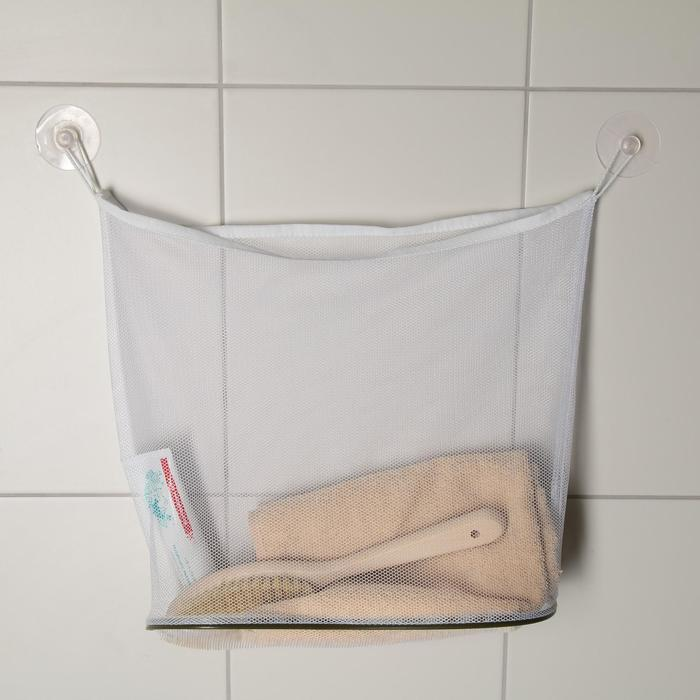 Сетка для игрушек и мелочей в ванную, цвет белый