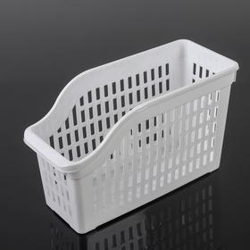 Корзина для хранения, 30,5×13×17,5 см, цвет белый