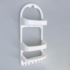 Полка для ванной комнаты, 27×12,5×62 см, цвет белый