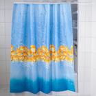 """Штора для ванной """"Океан"""", 180х200 см, полиэстер"""