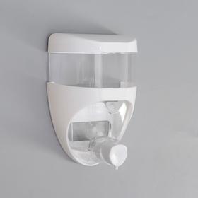 Дозатор для жидкого мыла Aqua, 650 мл, цвет белый