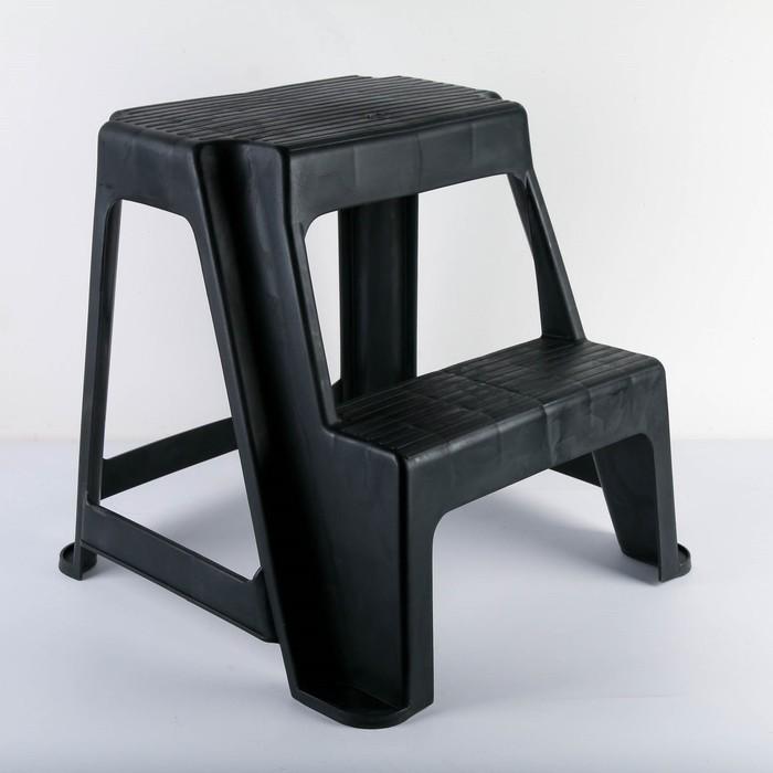 Табурет универсальный со ступенькой, цвет чёрный