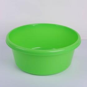 Таз круглый 11 л, цвет зелёный
